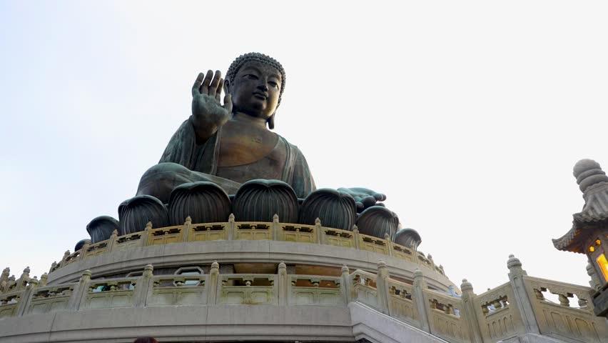Time lapse Tian tan buddha staue | Shutterstock HD Video #1019604235
