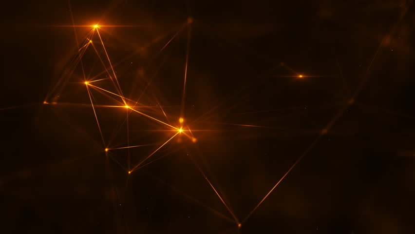Abstract plexus structure of many glowing lines and particles. Connection concept. Creative technological background with digital composition and optical flares. Looped sequence. | Shutterstock HD Video #1019711425