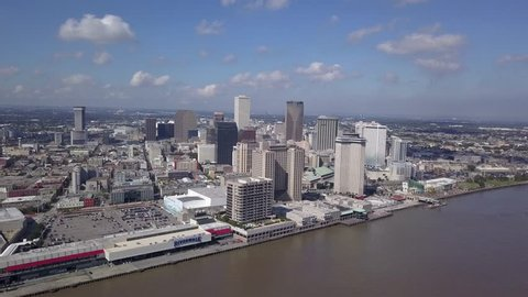 Aerial view, Downtown overview, New Orleans, Louisiana