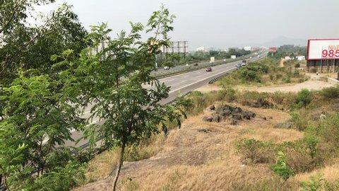 Pune, India - November 25 2018: The Mumbai Pune Expressway near Pune India.