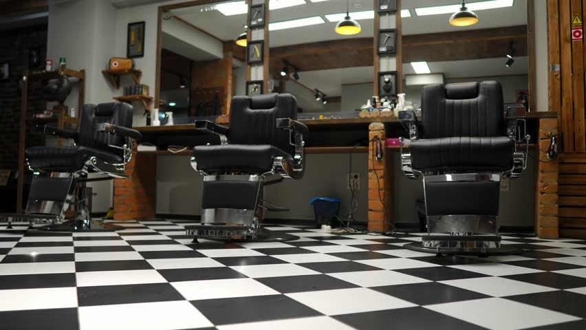 Enjoyable Interior Of The Mens Barber Stock Footage Video 100 Royalty Free 1020295165 Shutterstock Ibusinesslaw Wood Chair Design Ideas Ibusinesslaworg