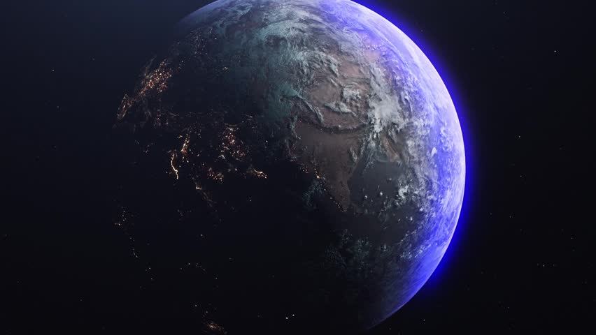 Earth / Asia seen from space / Day and Night   Shutterstock HD Video #1020413875