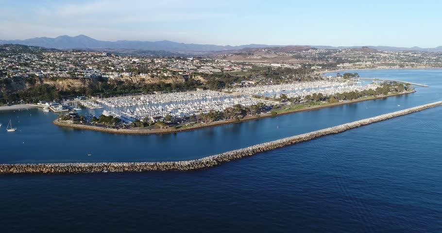 Aerial View of Dana Point California | Shutterstock HD Video #1020520105
