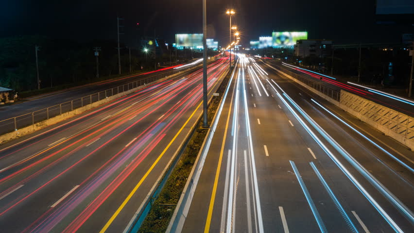 Cars Light on Night Street | Shutterstock HD Video #1020541555