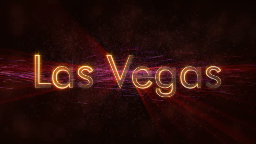 Las Vegas - United States city name text animation - Shiny rays looping on edge of text over a background with swirling and flowing stars | Shutterstock HD Video #1020646705