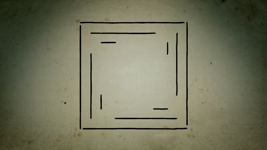 Mystical square lines drawing animation | Shutterstock HD Video #1020667105