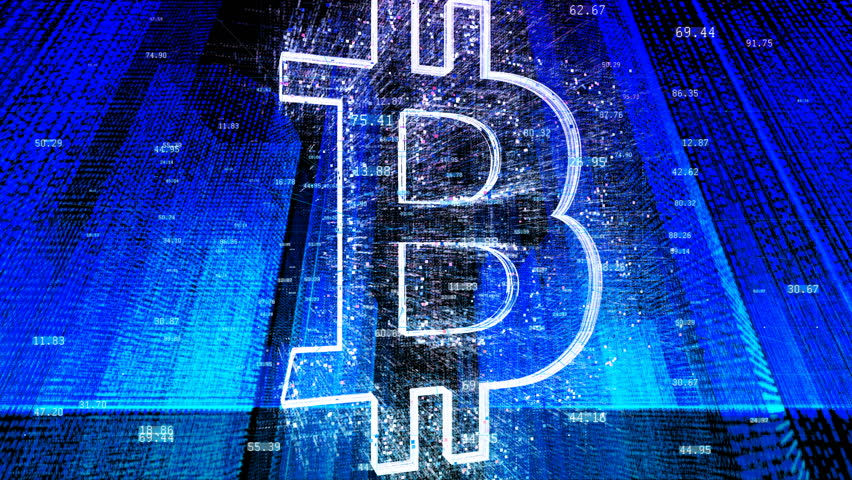 BTC symbol. Crypto currency bitcoin | Shutterstock HD Video #1020680365