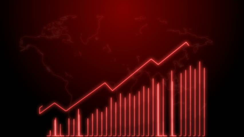 4k Business Growth And Success Arrow Infographics Animation of a business infographics Red neon   Shutterstock HD Video #1020773245