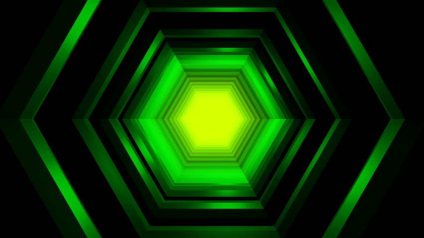 Beautiful Hexagon Tunnel Travel Animation - Futuristic Lights Loop | Shutterstock HD Video #1020787525
