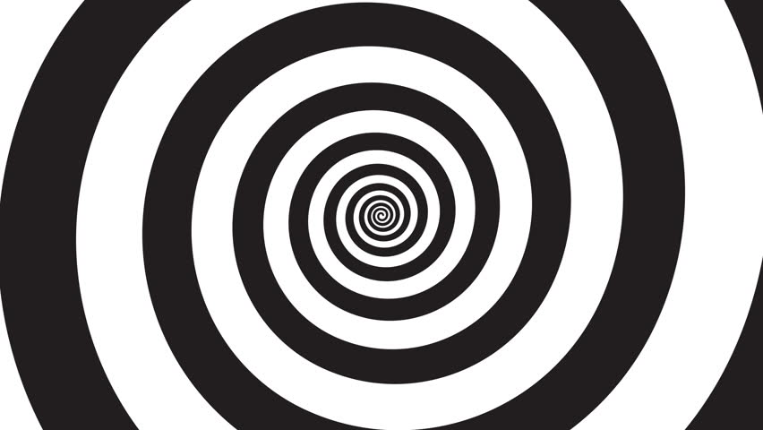 Hypnosis visualisation conept - endless spiral, looped video | Shutterstock HD Video #1021249435