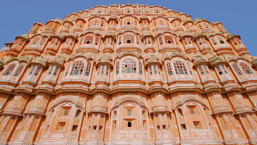 Tilt Up Shot of Hawa Mahal. Hawa Mahal or