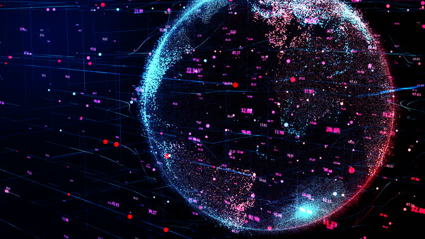 3D animation of Red planet Earth in the global futuristic cyber network, connection lines around the globe. Neural artificial grid shows data flow and cryptocurrency exchange in business concept. 4K | Shutterstock HD Video #1021337305