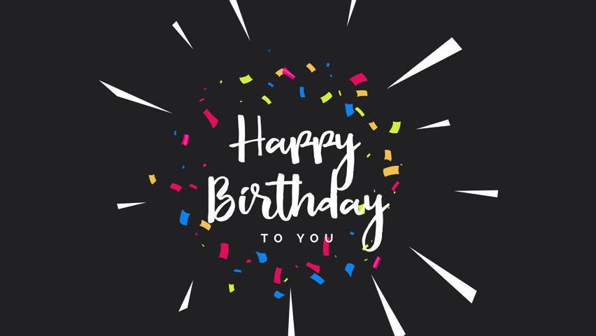 Happy Birthday Greeting Card Animation Animated Footage