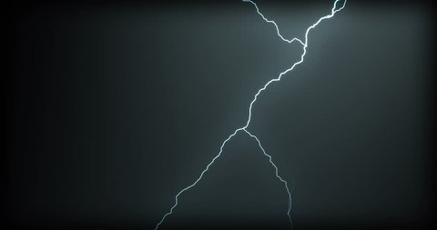 Lightning strikes on a black background