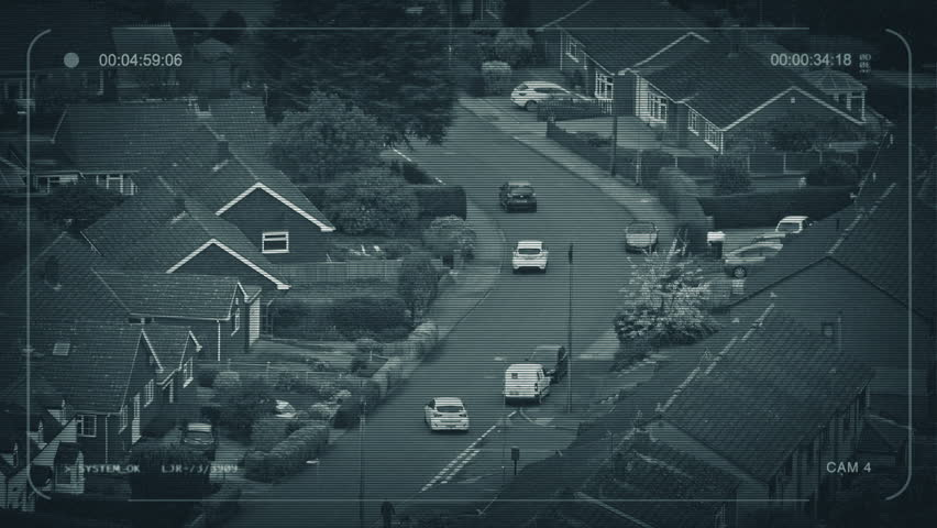 CCTV Cars Drive Through Suburban Area | Shutterstock HD Video #1021561945