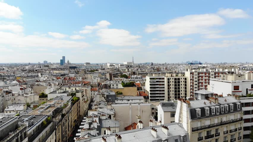 Flying Over Paris. View from drone | Shutterstock HD Video #1021731925