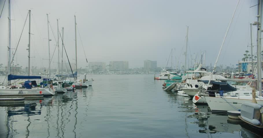 Marina del Rey harbor, California.