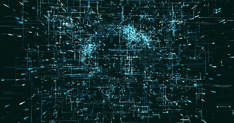 Abstract digital data background   Shutterstock HD Video #1022049475