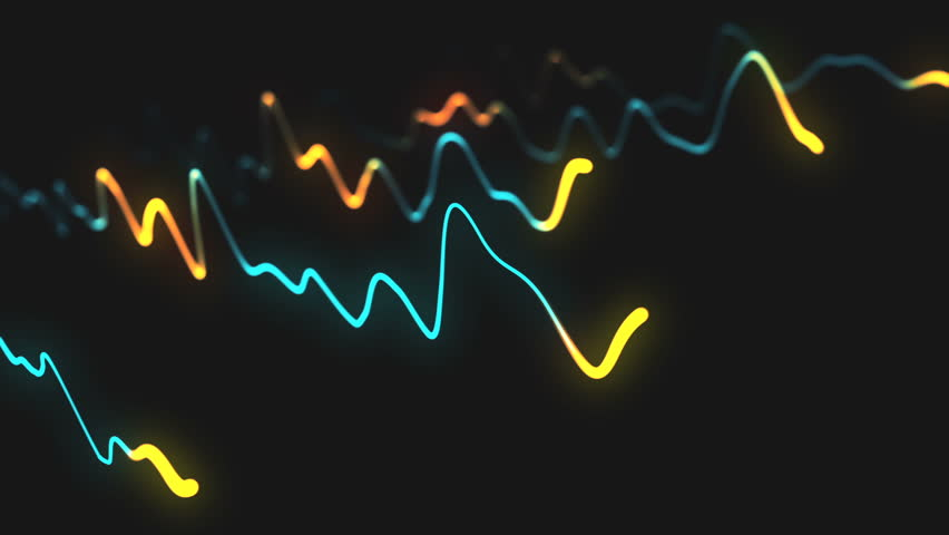 Animation growth of abstract charts with changing values of check points on dark background. Animation of seamless loop. | Shutterstock HD Video #1022110285