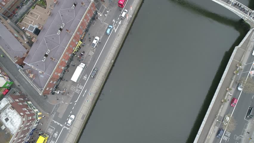 Dublin aerial sky view 4k | Shutterstock HD Video #1022188345