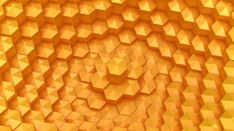 Yellow Low Poly Background Oscillating Stock Footage Video 100