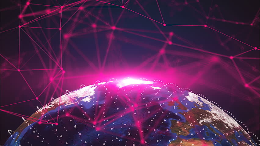 3d planet earth and connection dots, different continents, computer generated rendering background | Shutterstock HD Video #1022260105