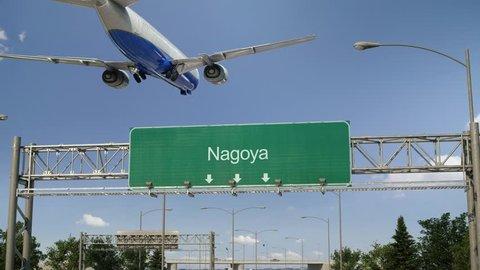 Airplane Landing Nagoya