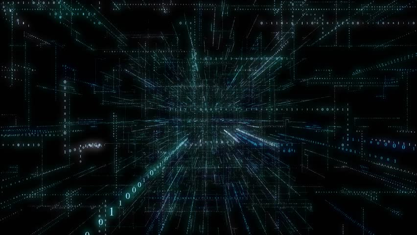 4K 3D Smart digital binary code with futuristic smart technology and connection network concept with seamless loop and rotation effect . | Shutterstock HD Video #1022527675