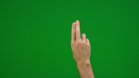 Set of 8 different two finger gestures click and swipe fast and slow on greenscreen shot on R3D in 4k