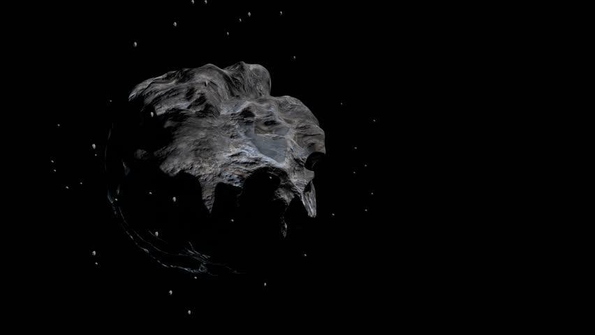 Asteroids fly in space | Shutterstock HD Video #1022623945