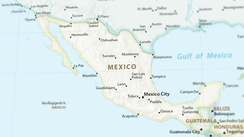 Royalty Free Mexico Map Video Footage And Clips 4k And Hd