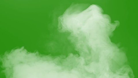 smoke with green screen