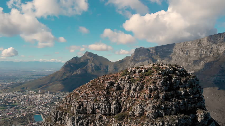 Epic Table Mountain Reveal // South Africa // Cape Town // Aerial