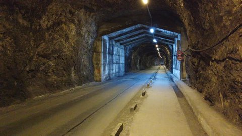 Keightley way tunnel in Gibraltar. Connects to Europa point