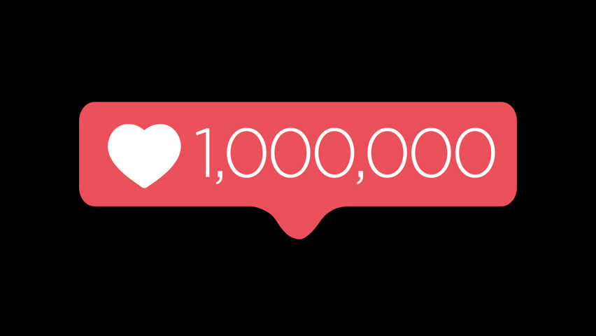 Social media like, love counter 0-1 Million 4k | Shutterstock HD Video #1022823805