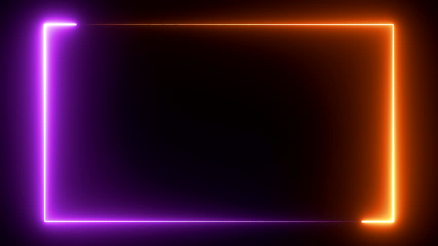 Abstract seamless background blue purple spectrum looped animation fluorescent ultraviolet light glowing neon lines Abstract background with neon box circle pattern LED screens and projection mapping | Shutterstock HD Video #1022870785