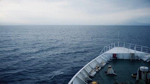 Boat sailing on calm waters - Kagoshima ferry ride to Yakushima