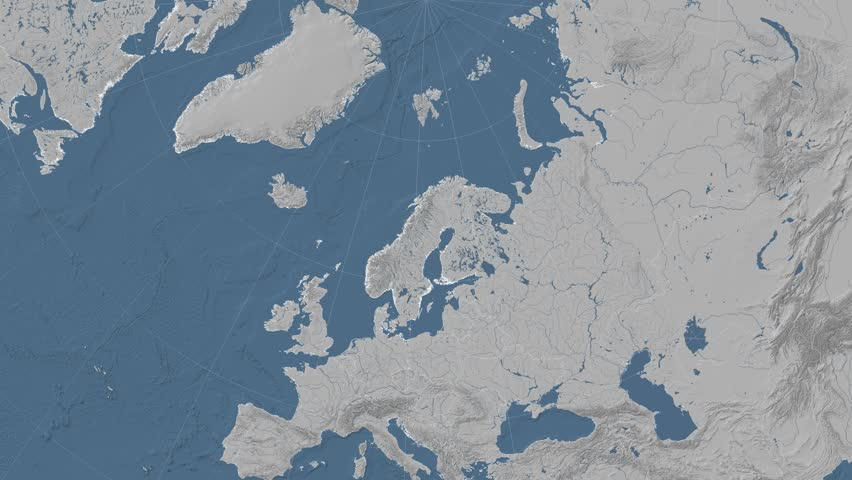Norway On The Satellite Map Outlined And Glowed Elements Of This - Norway elevation map