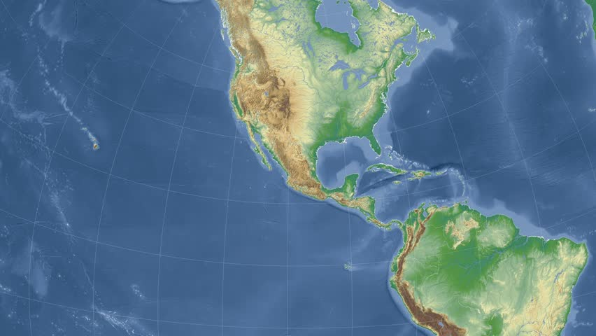 Mexico On the Physical Map Stock Footage Video (100% Royalty-free) 10229825  | Shutterstock