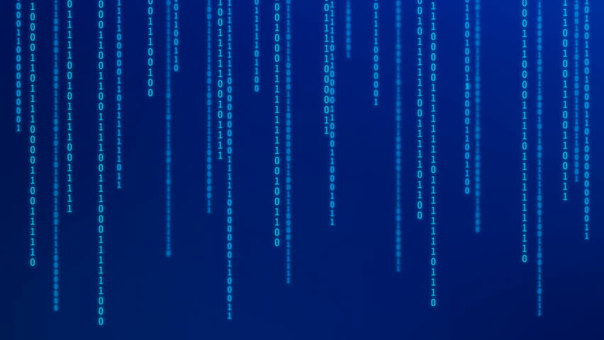 01 or binary numbers on the computer screen on monitor matrix background, Digital data code in hacker or safety security technology concept. Abstract illustration | Shutterstock HD Video #1023025075