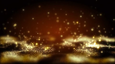 4K Abstract motion background animation shining particles stars sparks and magic dust forming in space wave flow with light rays and projections seamless loop