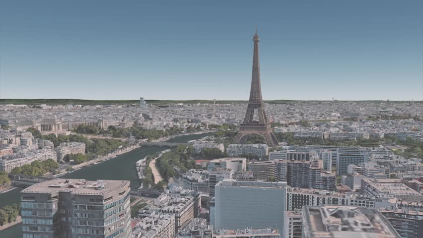 Architecture in the vicinity of the Eiffel tower in the center of Paris | Shutterstock HD Video #1023224635
