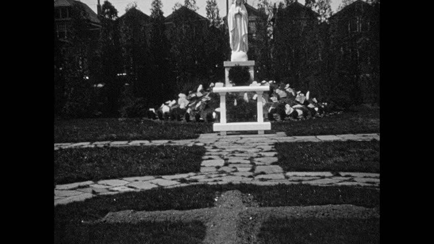 1930s: Exterior Churchyard  Four Boys Stock Footage Video (100%  Royalty-free) 1023265585 | Shutterstock