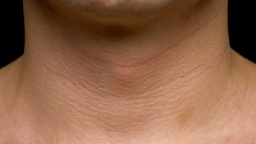 Man gulp Adam's apple close up sequence | Shutterstock HD Video #1023320755