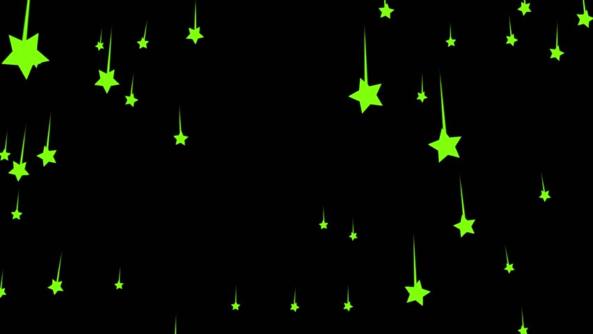 Animation of small and large falling green stars on a black background. Abstract motion background. | Shutterstock HD Video #1023355225