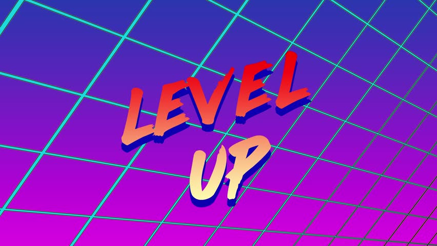 Animation of Level up Title Stock Footage Video (100% Royalty-free)  1023435355 | Shutterstock