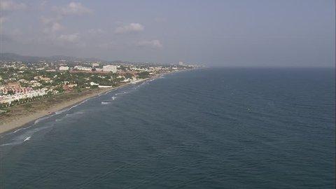 AERIAL Spain-Beach At Costabella 2007: Resorts along coast towards Fuengirola