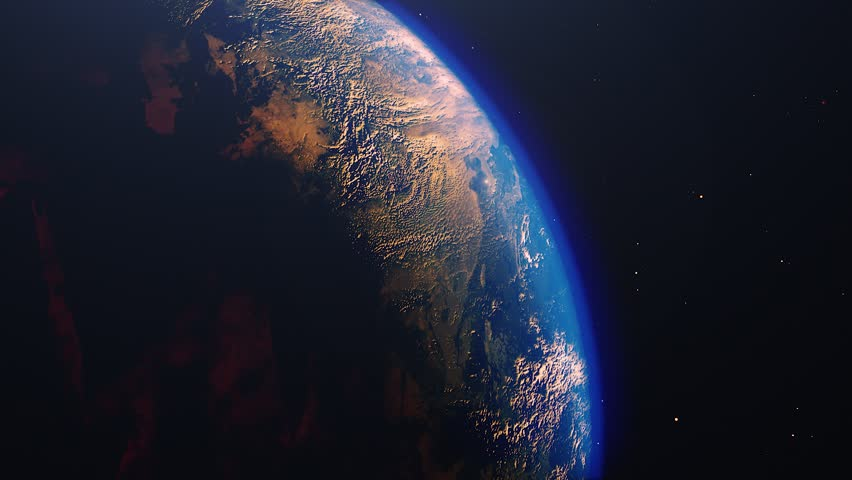 Planet earth from space. High detailed animation. Sunrise view from space on Planet Earth. 4k 3D Render. Images from NASA | Shutterstock HD Video #1023894355