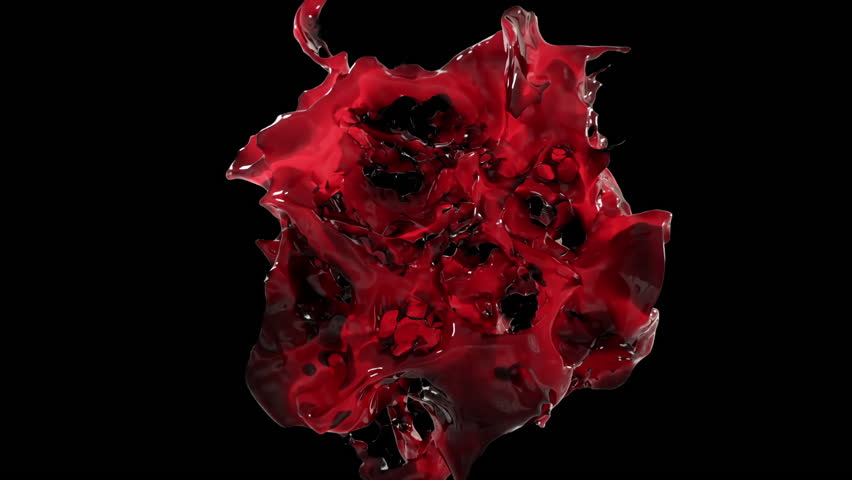 Spectacular splash of wine in slow motion on black isolated background with alpha matte | Shutterstock HD Video #1023926095