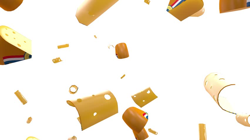 Perfect loop of 3d rendering of a falling objects isolated on white | Shutterstock HD Video #1024073525